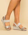 Not Rated Kapri Snakeskin Wedge - Taupe