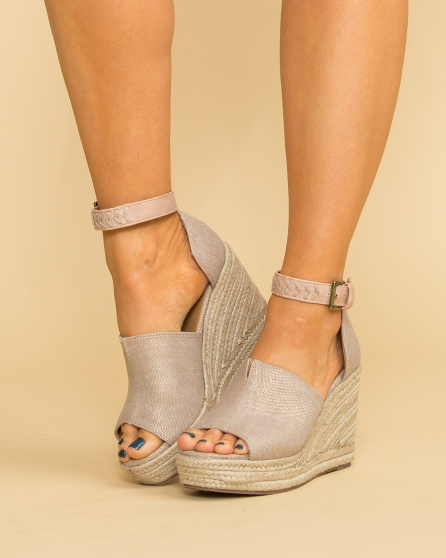 Not Rated Kristin Wedge - Rose Gold