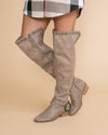Not Rated Lead The Way Over The Knee Boots  - Taupe