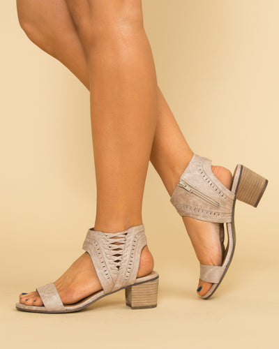 Not Rated Lindsly Block Heel - Taupe
