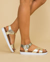 Not Rated Weslynn Flatform Sandal - Gold