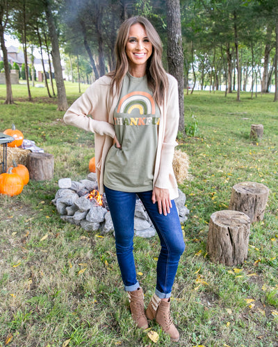 More Than Thankful Tee - Olive