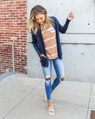 Nothing But Time Cardigan - Navy