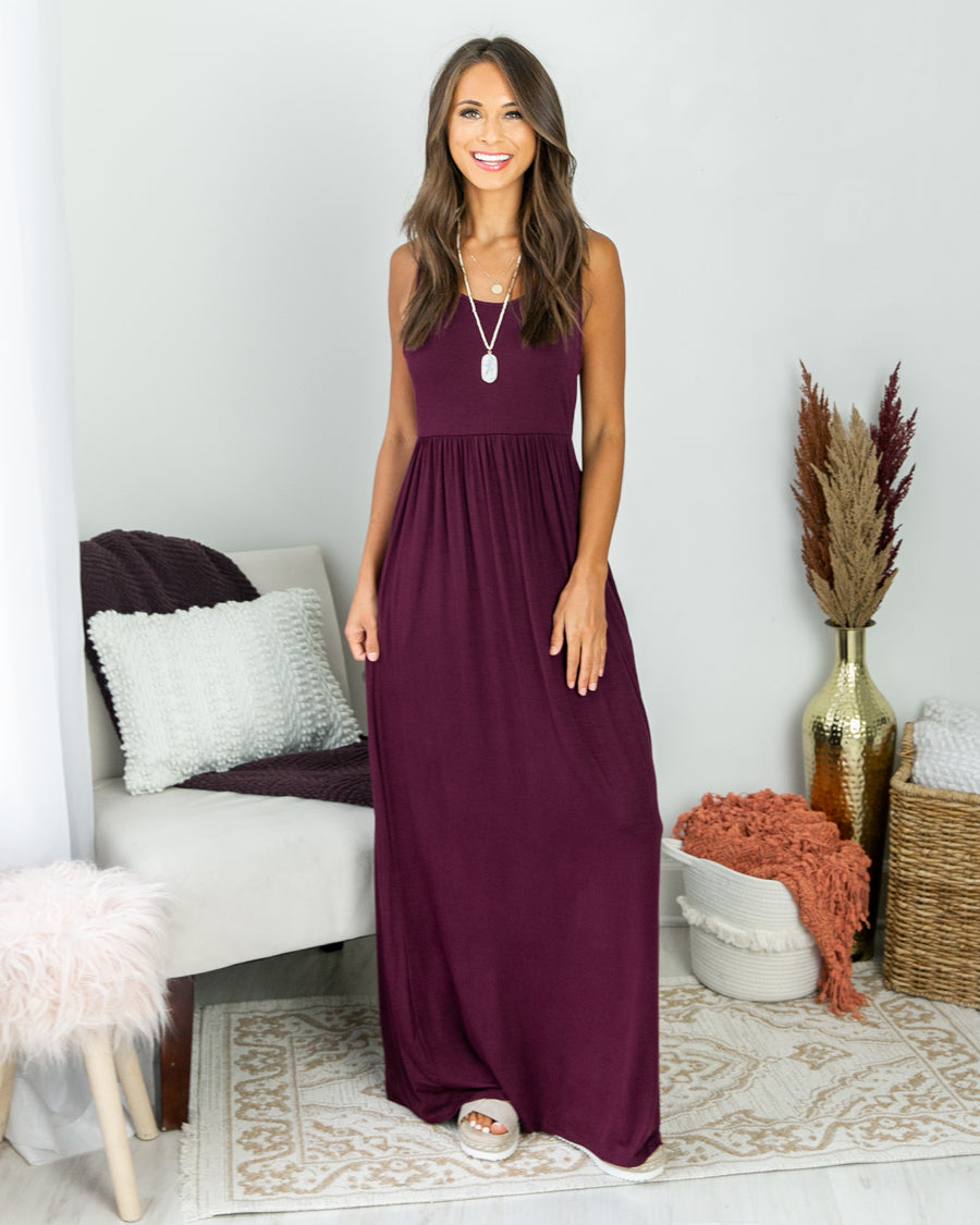 Nothing Greater Racer Back Maxi - Wine
