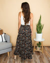 Nothing But Love Printed Skirt - Black