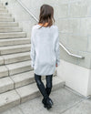 Off The Clock Oversized Sweater - Light Grey