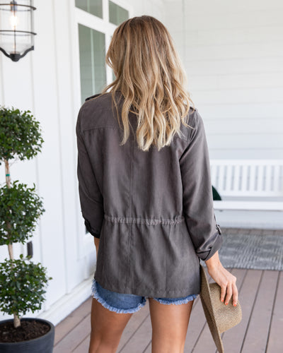 Off To A Good Start Jacket - Charcoal