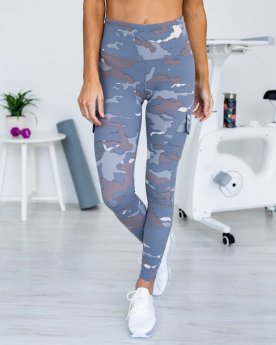 On The Right Track Leggings - Slate Grey