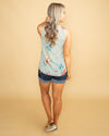 On Melrose Avenue Mixed Media Knot Top - Mint