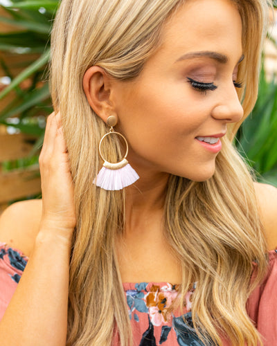Paradise Please Statement Earring - Pink