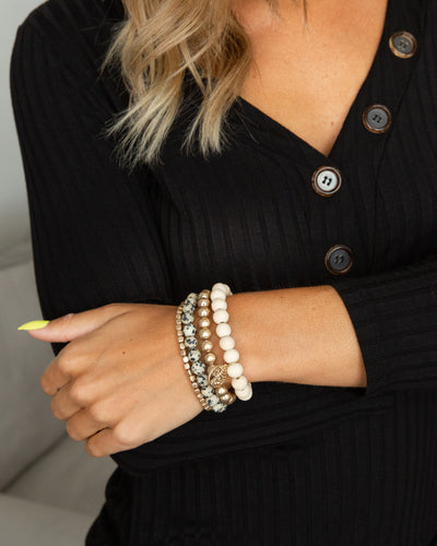 Parker Stackable Bracelet - Gold Multi