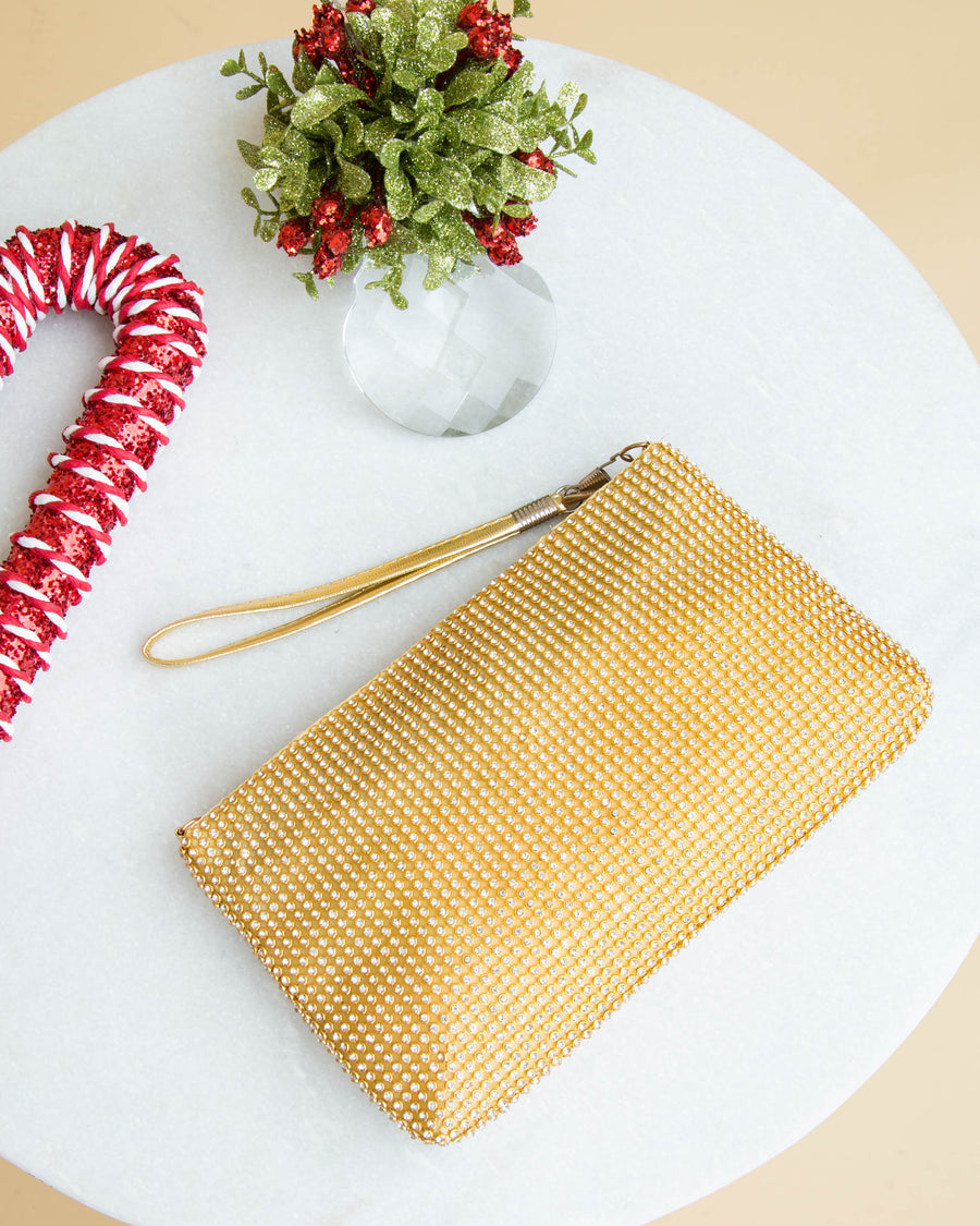 Pass The Champagne Clutch - Gold