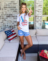 Peace And Love Graphic Tee - White