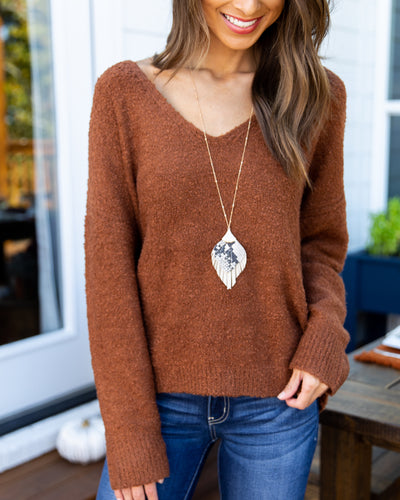 Perfect Timing Sweater - Chestnut