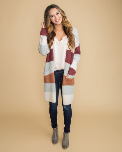 Perfect For That Color-Block Cardigan - Cream Multi