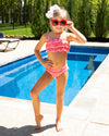 Perfect Paradise Gingham Bikini - Coral