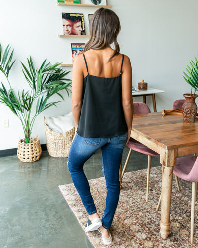 Perfectly Content Tank - Black