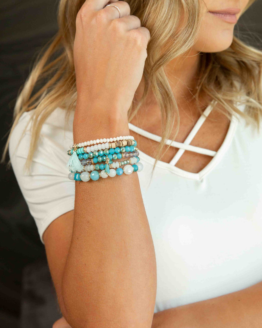 Phoebe Stackable Bracelet - Turquoise