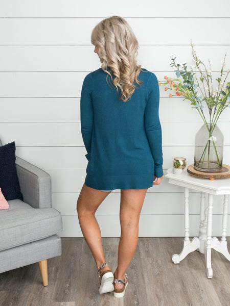 Picking Favorites Cardigan - Dark Teal