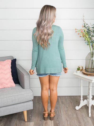 Picking Favorites Cardigan - Dusty Mint