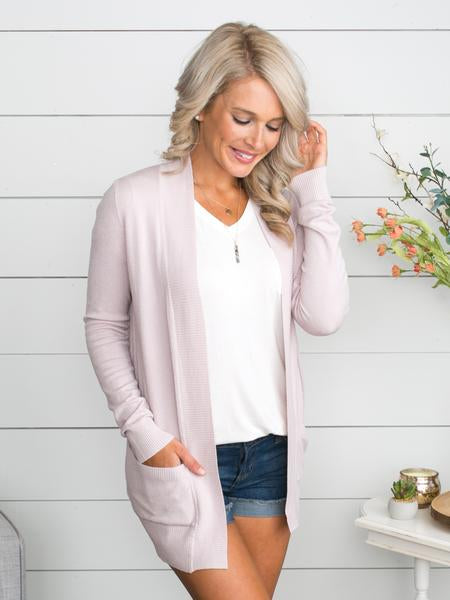 Picking Favorites Cardigan - Pale Pink
