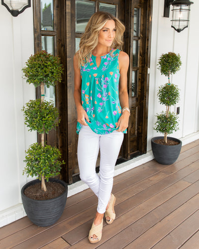 Picture Perfect Tank - Turquoise