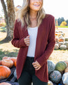 Planning Ahead Cardigan - Marsala