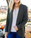 Planning Ahead Cardigan - Olive
