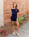 Play It Cool Romper - Navy