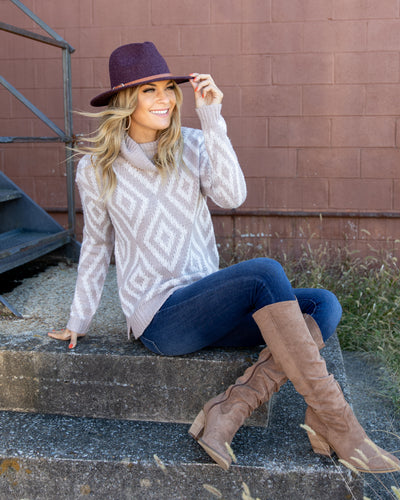 Play Your Part Sweater - Taupe