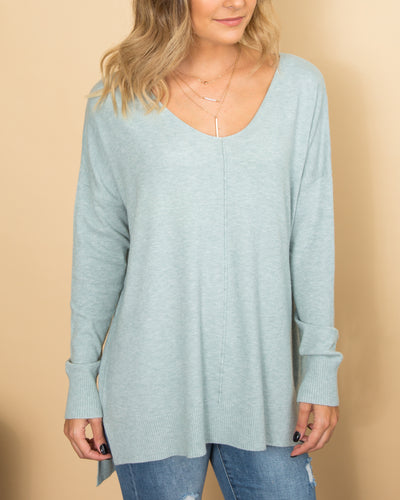 Play It Cool Sweater - Light Blue