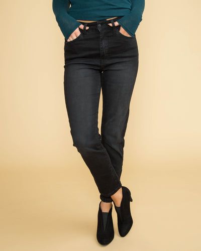 Presley Cropped Straight Fit Jean - Black
