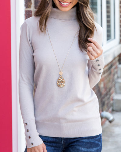 Pull You Close Sweater - Oatmeal