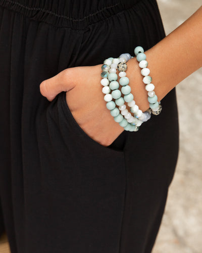 Quinn Stackable Bracelet - Mint
