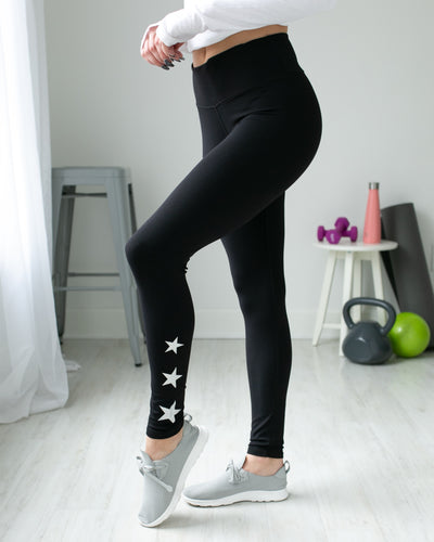 Race To The Stars Leggings - Black