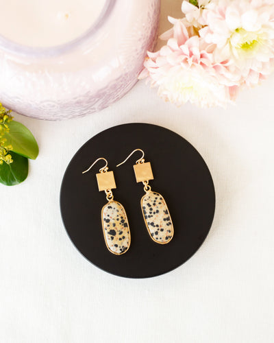 Rae Pendant Earrings - Gold
