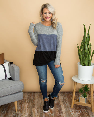 Rainy Nights Top - Grey
