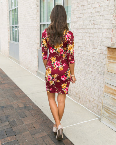 Reaching Your Dreams Dress - Burgundy
