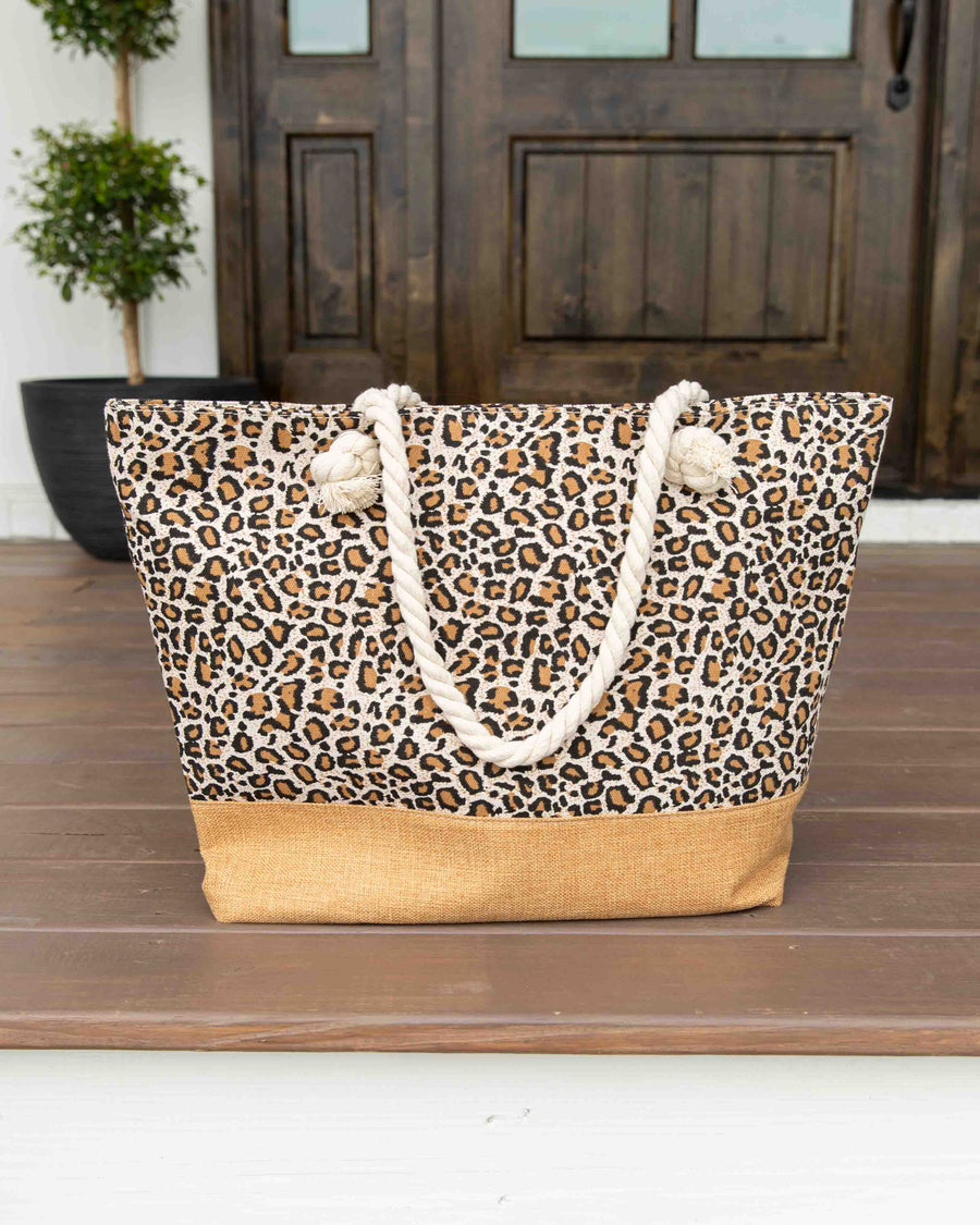 Ready For Fun Leopard Weekender Bag - Beige