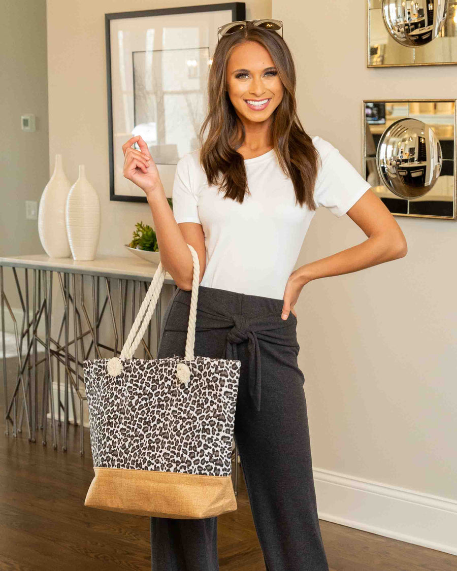 Ready For Fun Leopard Weekender Bag - White