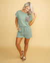 Ready To Pounce Romper - Sage