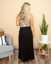 Reasons For Love Lace Maxi Skirt - Black