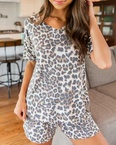 Relax And Reset Top - Leopard