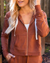 Remain Chill Jacket - Chestnut