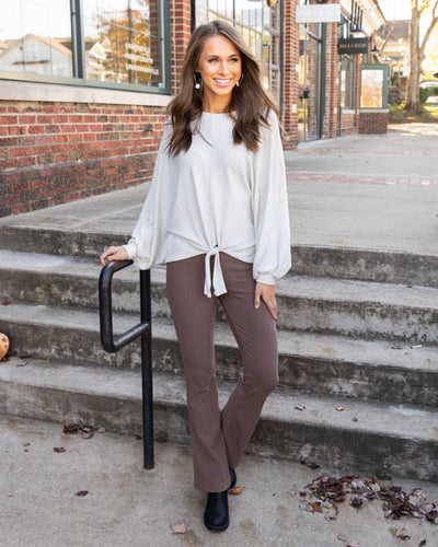Found My Way Flare Pant - Mocha