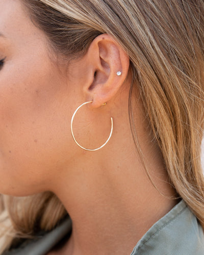 Riley Hoop Earrings - Gold