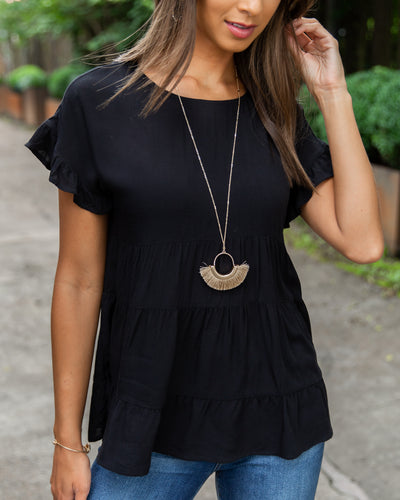 Rooftop Soiree Top - Black