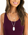 Rosa Layered Necklace - Ivory