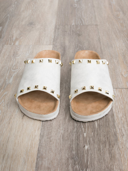 Chinese Laundry Rylie Studded Slides - Off White