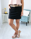 Set My Sights On You Skirt - Black